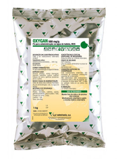 OXYGAN 500 mg/g POWDER FOR USE IN DRINKING WATER