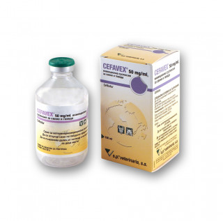 CEFAVEX 50 mg/ml, suspension for injection for pigs and cattle